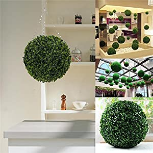 "5"" Tea Leaf Ball-shaped Artificial Topiary Sphere Orb Indoor Outdoor 37"