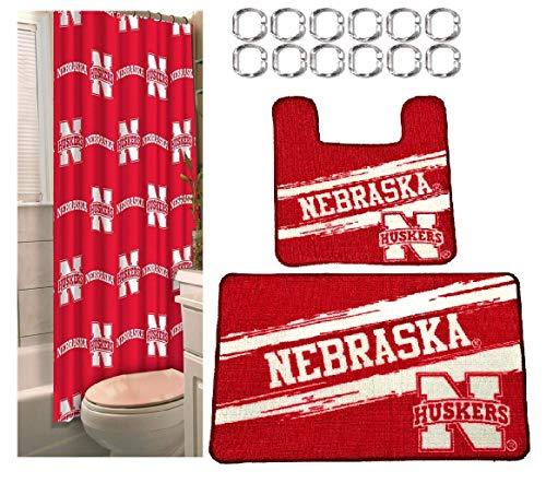 - The Northwest Company Nebraska Cornhuskers 15 Piece Bath Set