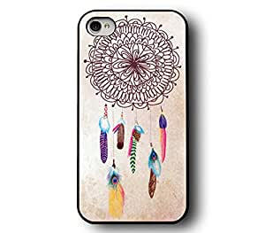 WYECLK Multi-Color Dream Catcher Snap On Design Pattern Custom Printed Hard Plastic Style Back Mobile Phone Protective Snap On Case Cover Accessory For Iphone 4 4S