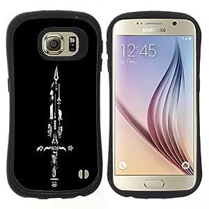 """Hypernova Slim Fit Dual Barniz Protector Caso Case Funda Para Samsung Galaxy S6 [Espada Colección""""]"""