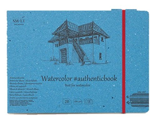 Stitched SMLT 5-Light 12St Authentic Line 245X176mm Watercolour Block Authenticbook 280GSM White Paper 12Sheets