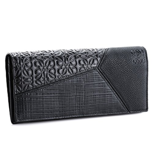 LOEWE(ロエベ) 財布 メンズ PUZZLE 2つ折り長財布 BLACK 12499978-0052-1100 [並行輸入品] B07FY5NBRW