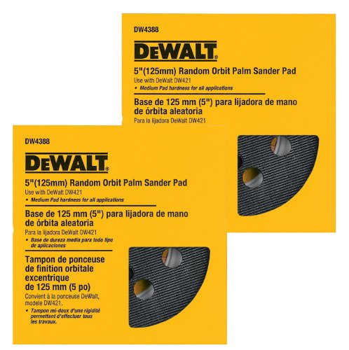 DEWALT DW421/DW423 Sander Replacement (2 Pack) DW4388 5 inch Hook & Loop (8 Holes) # DW4388-2pk