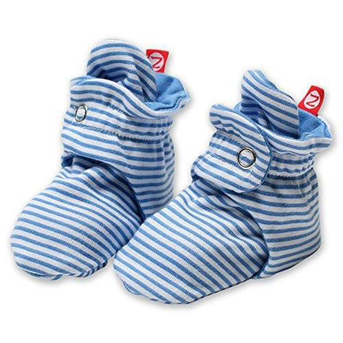 Candy Stripe (Zutano Unisex-Baby Newborn Candy Stripe Booties, Peri, 3 Months)