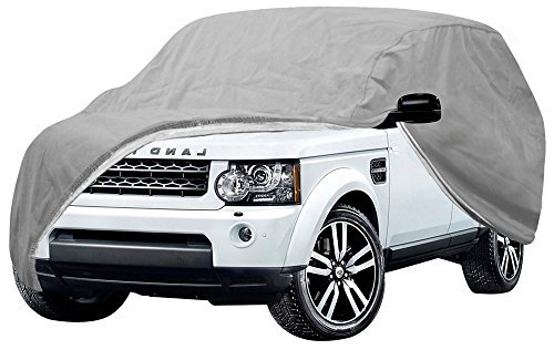 OxGord Auto Cover - Basic Out-Door 4 Layers - Tough Stuff - Ready-Fit Semi Glove Fit fro SUV, Van, and Truck - Fits up to 206 Inches