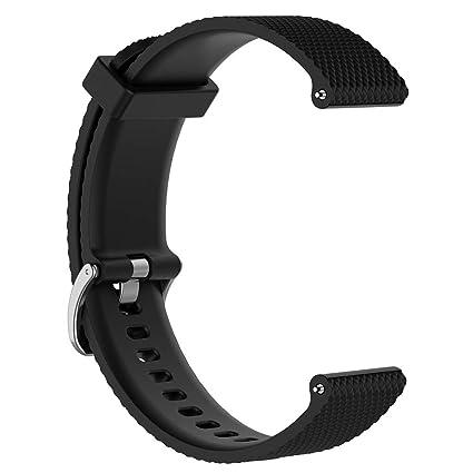 Sunhoyu Bracelet de rechange pour montre connectée Polar Vantage M Bracelet en silicone réglable Bracelet de