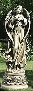 """47""""Joseph del Estudio Magnífico ángel con paloma al aire libre jardín Estatua"""