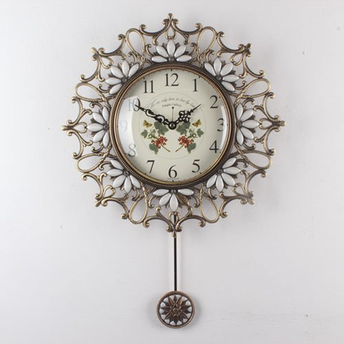 ローズ王冠(大) 振り子時計/インテリア 掛け時計 B00C27WIFE