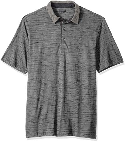 and Tall Never Tuck Slub Short Sleeve Polo, Grey Cumulus, 3X-Large Big ()