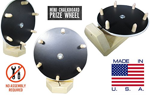 Cheapest Price! 10X GOODS Mini Spinning Prize Wheel/NO Assembly Required/Chalkboard Dry Erase/2 In 1...