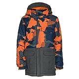 686 Kids Boy's Onyx Insulated Jacket (Big Kids) Orange Geo Camo Color Block Small