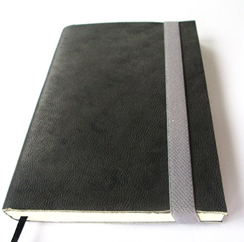 Journal to Write Gray Genuine Soft Leather With Elastic Strap Handmade Notebook 100 Blank Pages 5