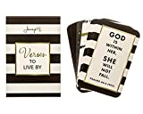 JennyM | Verses to Live By - 25 Bible Verses Inspirational Prayer Cards, Memory Verse of the Day Scripture Cards with Keepsake Box, Boxed Inspirational Blessing Cards, Christian Gift