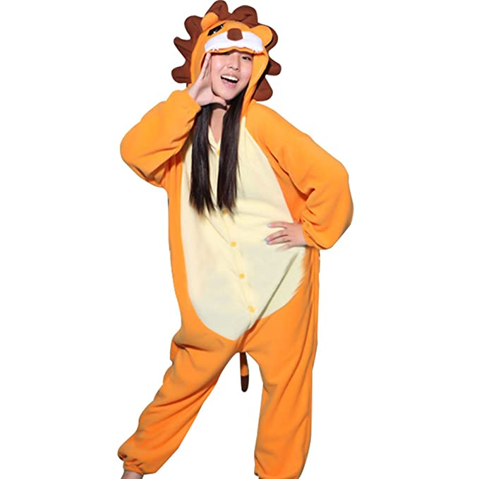 BOMOVO Unisex Cálido Pijamas para Adultos Cosplay Animales de Vestuario Ropa de dormir Halloween y Navidad