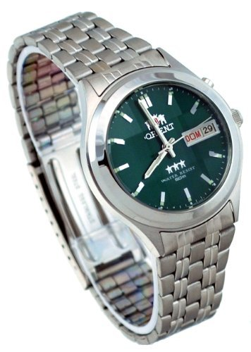 Orient #BEM5V002F Men's Facet Glass Stainless Steel Green Dial Automatic Watch