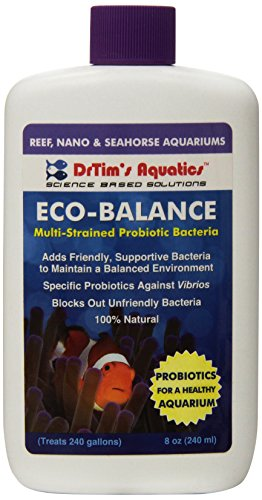 DrTim's Aquatics Eco-Balance Multi-Strained Probiotic Bacteria for Reef and Nano Aquariums, 8-Ounce