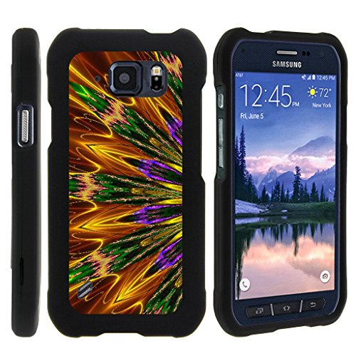 MINITURTLE Case Compatible w/ Miniturtle [Samsung Galaxy S6 Active case, S6 Active Cover] [Snap Shell] 2 Piece Hard Plastic Case Kaleidoscopic Phoenix