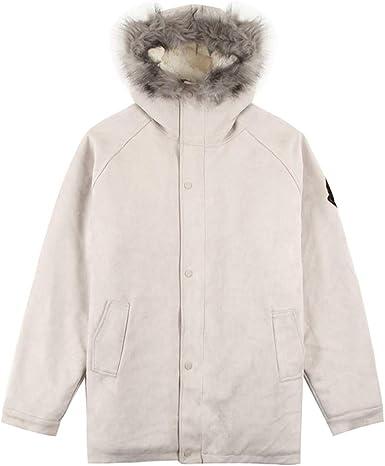 Qifengshop Algodón para hombre abrigo largo de invierno par abrigo ...