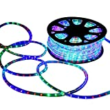 DELight 150 FT RGBY 2 Wire LED Rope Light Indoor Outdoor Home Holiday Valentines Party Disco Restaurant Cafe Decor