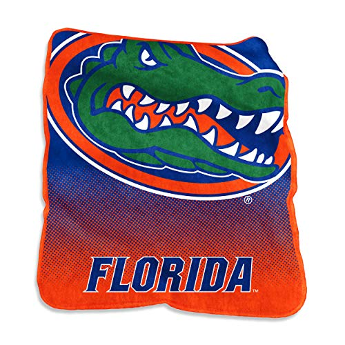 Logo Brands NCAA Florida Gators Unisex Raschel Throwraschel Throw, Royal, N/A