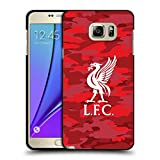 Official Liverpool Football Club Home Colourways Liver Bird Camou Black Soft Gel Case for Samsung Galaxy Note5 / Note 5