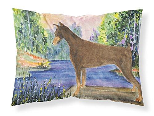 Multicolor Large Carolines Treasures SS8066PILLOWCASE Doberman Moisture Wicking Fabric Standard Pillowcase