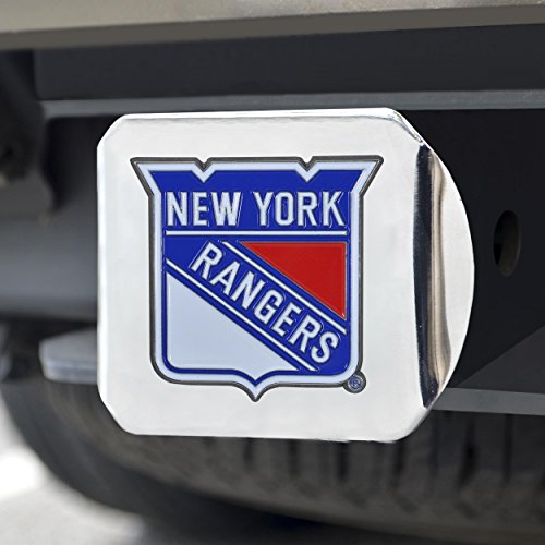 FANMATS NHL New York Rangers NHL - New York Rangerscolor Hitch - Chrome, Team Color, One Size ()