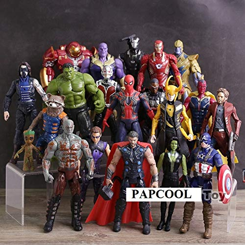 PAPCOOL Set 20 Action Figures 6.7 inch The Legends Series Hot Toys 2019 Big Mini Small Toy Figure Birthday Christmas Halloween Collectible Collectibles Gift Collectable Gifts for Young Kids - Mini Set Collectibles