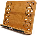Bamboo Book Stand - wishacc Reading Rest Holder
