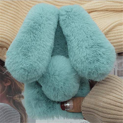 - Case for Moto Z2 Force,Luxury Cute Warm Handmade Bling Diamond Rabbit Bunny Furry Fuzzy Soft Rabbit Fur Hair Plush Case for Motorola Moto Z2 Force(Rabbit Mint Green)