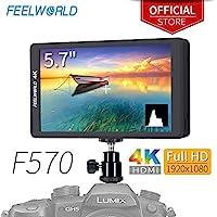 FEELWORLD F570 5.7 inch DSLR On Camera Field Monitor...