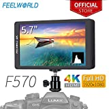 FEELWORLD F570 5.7 inch DSLR on Camera Field Monitor Small HD Focus Video Assist IPS Full HD 1920x1080 Support 4K HDMI Input Output Rugged Aluminum Housing