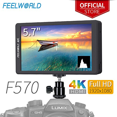 Focus Hd Camera - FEELWORLD F570 5.7 inch DSLR on Camera Field Monitor Small HD Focus Video Assist IPS Full HD 1920x1080 Support 4K HDMI Input Output Rugged Aluminum Housing