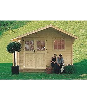 Caseta Vermont de madera con pérgola, 603 x 245 cm: Amazon.es: Jardín