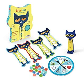 Educational Insights Pete the Cat I Love My Buttons Game - Preschool Shapes Matching Game, Ages 3+