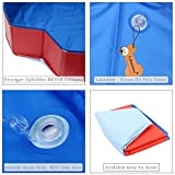Lalawow SO COOL Foldable Pet Swimming Pool Bathing Tub Bathtub Dog Cats Washer 32inch.D x 8inch.H (Blue With Red)