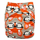 Ohbabyka Reusable Washable Baby Boys/Girls Pocket Cloth Diapers with 1pc Insert