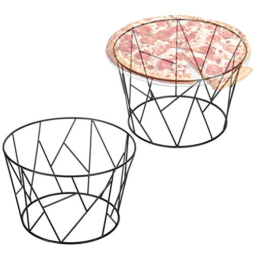 (MyGift Modern Geometric Black Wire Pizza Stand, Set of 2)