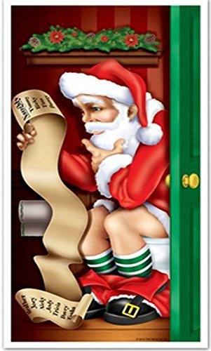 Santa Restroom Door Cover 30in. X 5ft. (1/pkg) Pkg/3 ()