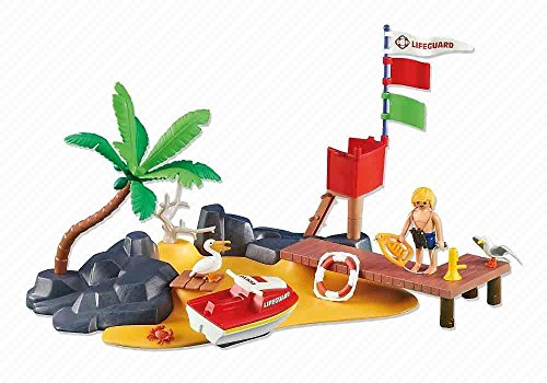 Playmobil Add-On Series - Beach with Lifeguard Stand