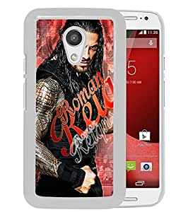 Lovely And Unique Designed Case With Wwe Superstars Collection Wwe 2k15 Roman Reigns 11 White For Motorola Moto G 2nd Generation Phone Case