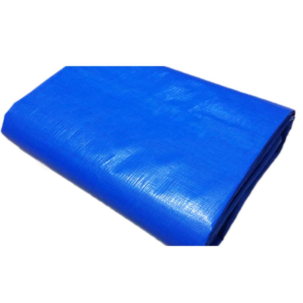 シェードセイルシェードクロスサンブロックウインドブレークブルーPEプラスチック製サンスクリーンターポリン4面ラップアングル、亜鉛メッキボタンホール FENGMIMG (色 : 青, サイズ さいず : 4*6m) 4*6m 青 B07L2RDQGZ