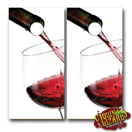 CL0042 Red Wine Glass CORNHOLE LAMINATED DECAL WRAP SET Decals Board Boards Vinyl Sticker Stickers Bean Bag Game Wraps Vinyl Graphic Image Corn Hole Merlot Syrah Cabernet Sauvignon