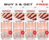 **FREE OFFER** KISS imPRESS ''ROCK IT'' 2x Longer Lasting Short Nails by Broadway Press-On Manicure Nails (BUY 3 GET 1 FREE)