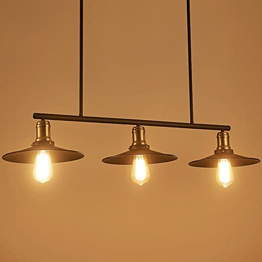 Lamdari Tre testa ristorante industriale lampadario moderno ...