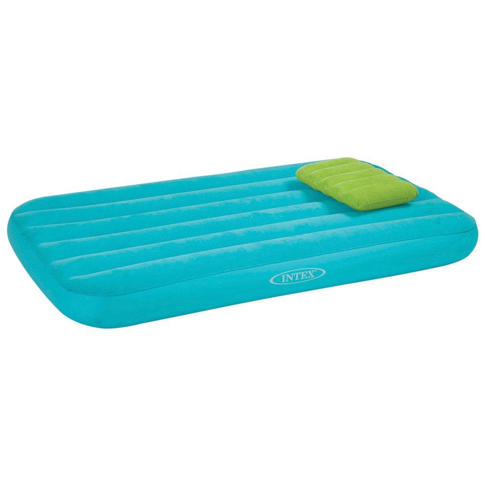 Intex 66801 - Colchón hinchable niños azul+ almohada 88 x 157 x 18 cm