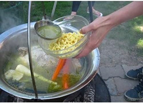 Chaudron pot inoxydable avec couvercle- 10L- 2kg- Ø : 36cm- h: 16cm
