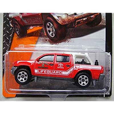 Hot Wheels Matchbox 2015 Release RED Toyota Tacoma SAN DIECO FIRE Rescue Lifeguard 59/120: Toys & Games