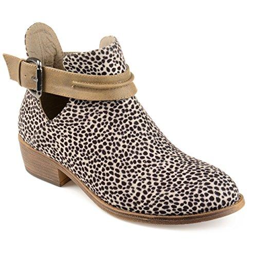 Collezione Journee Da Donna Con Tacco In Camoscio Finto Accatastabile Leopardo Leopardato