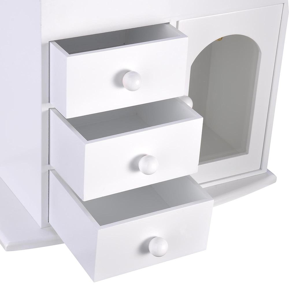 270136ae3 Amazon.com: Yescom Wooden Jewelry Box Built-in Mirror Ring Earring Necklace  Organizer Storage Case White: Home & Kitchen